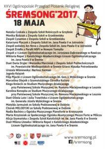 sremsong 2017 - plakat A0 - maj 18 - lic